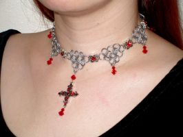 Red Cross Choker - view 2 by whitefantom