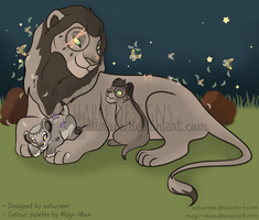OTA natXminx:Lion Family Adoptable (OPEN) by naturaee
