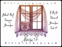 Folk and Stencil Set 4 by Sangre-brushes