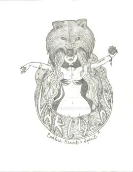 Varcolac Gypsy Wolf - Sketch by Monstraus