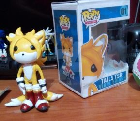 TAILS TSR - Funko pop [fan made by me] by SilverAlchemist09