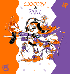 WOOMY and FANG by SPIRALCRIS
