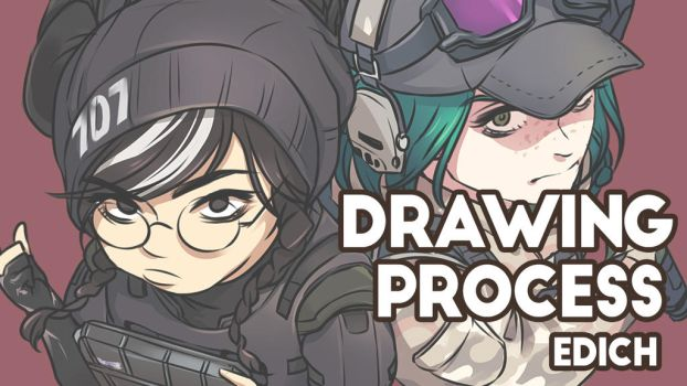 R6S Year2 operator Drawing process by EDICH-art