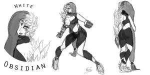 White Obsidian Concept Sketch by Xshinigamilord
