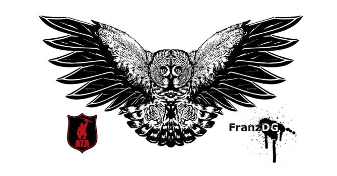 Great Gray Owl x Blade wings by FranzDG