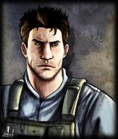 Chris Redfield Portrait by biscuit-the-great