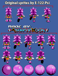[Custom Sprites] Amy Rose (S.S.) - Knux' Chaotix by AsuharaMoon