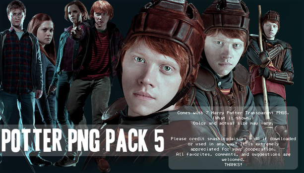 Potter PNG Pack 5 by smashingdaisies