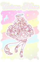 [Closed] Rainbow Unicorn nurse by Valyriana