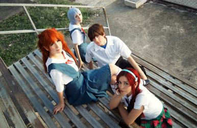 Evangelion You Can (Not) Advance Cosplay Group by SailorMappy