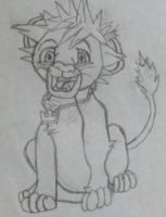 sora in his lion form by pandababy28