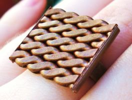 Woven Copper Ring by salvagedsword