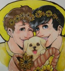 Dan and Phil and Dogs (March) by 25thHanabusa