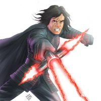 The Last Jedi Kylo Ren by ryuzo