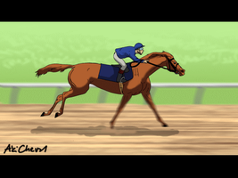 Race Horse Animation by AkiCheval