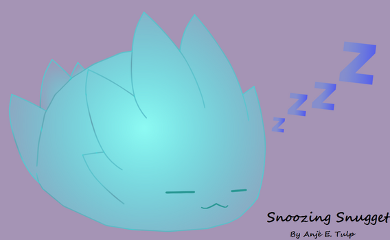 Snoozing Snugget by InkBlotCreations