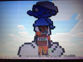 My smurf in minecraft by RichHoboM3