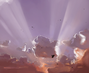 Daily Sketch #0096 - Cloud Study by GhostlyCarrot