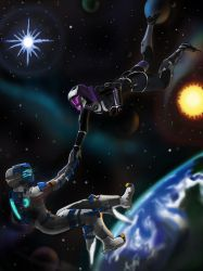 Space dance by spaceMAXmarine