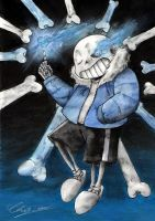 Sans - Bad Time by Fluffy-Pixel-Artist