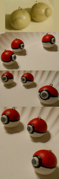 Pokeball sculpey Charms by EmotionlessBlue