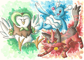 Alola Second Stage Starters!