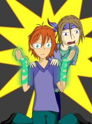 Cael and Rain Freakin Out by TerraYume