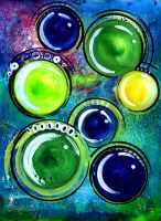 Concentric Space Spheres by jempavia