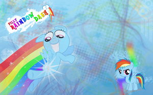 FiM: Filly Rainbow Dash WP by M24Designs