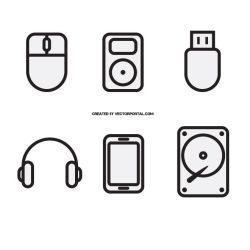Computer technology icons by Vectorportal
