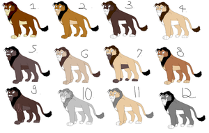 lion adoptables by lltmss