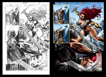 Red Sonja 46 page 08 by wgpencil