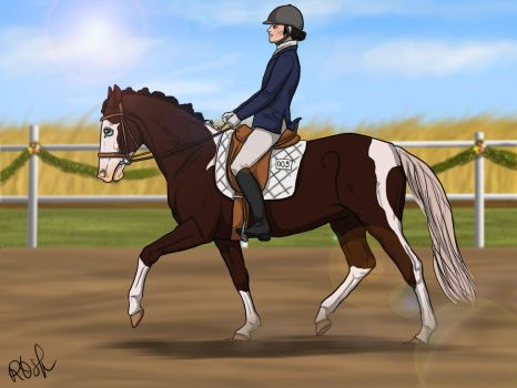 Dressage Event - New Glory by RQsf