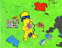 Bart Simpson Naked by alan181818