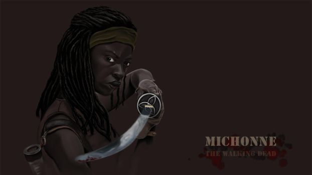Michonne - The walking dead by Pinseltierchen