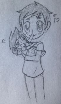 Simon and little Liana by LiveWireGoth