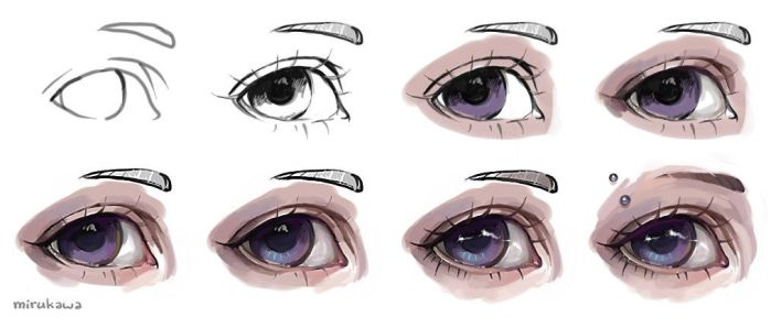 semi realistic eye tutorial by artisticxhelp on deviantart