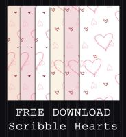 FREE DOWNLOAD - Scribble Hearts Pattern by PointyHat