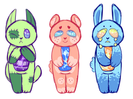 Pastel Gore lava lamps by Lord-of-Lemons