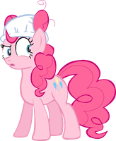 Pinkie Pie suspicious wearing diaper vector by Pangbot