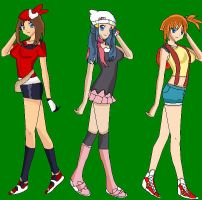 Misty, May, and Dawn by rockleebabe96