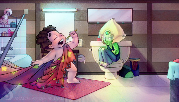 Steven's Bathroom by Analostan