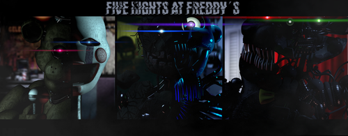 C4D | Five Nights At Freddys by NightmareBlueFoxy