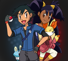 Ash-XY(6 Gen) for #Ash-Ketchum-fangroup Contest by Tzblacktd