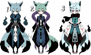 kitsune adoptable batch CLOSED by AS-Adoptables