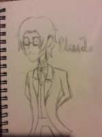Claude Faustus in Tim Burton's style by doctorwhooves253