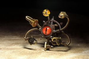 Steampunk Beholder Robot by CatherinetteRings