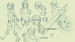 Sketches_ Gwen by MechaBerry