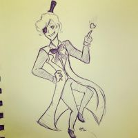Inktober Day 30 Bill Cipher  by Ailizerbee08