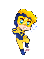 Tiny Booster Gold by Artist-squared